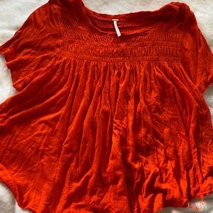 Free People Orange T-shirt